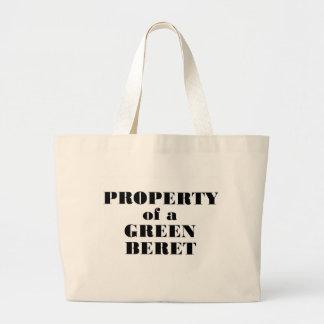 Property of a Green Beret Jumbo Tote Bag