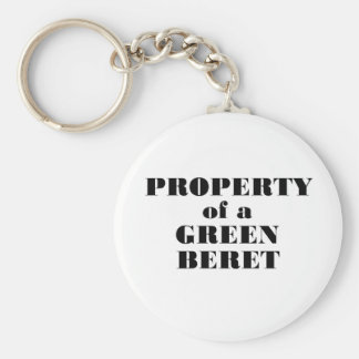 Property of a Green Beret Basic Round Button Keychain