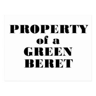 Property of a Green Beret Postcard