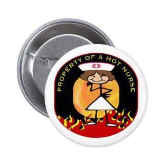 Property of a Hot Nurse Pinback Button