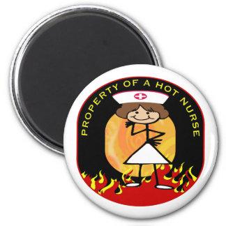 Property of a Hot Nurse Refrigerator Magnets
