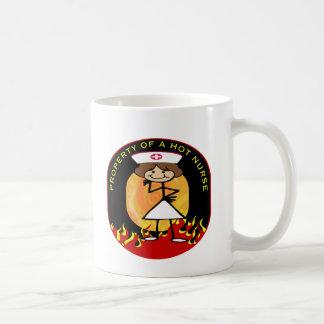 Property of a Hot Nurse Coffee Mugs