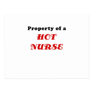 Property of a Hot Nurse Postcard