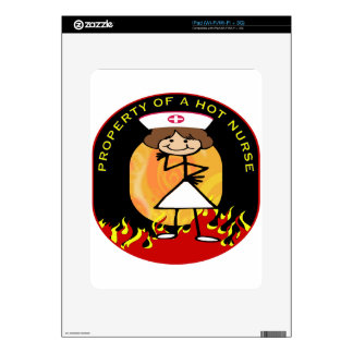 Property of a Hot Nurse Decal For The iPad
