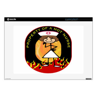 Property of a Hot Nurse Decals For Laptops