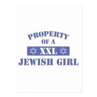 Property Of A Jewish Girl Postcard