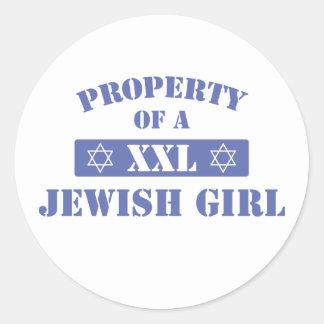 Property Of A Jewish Girl Sticker