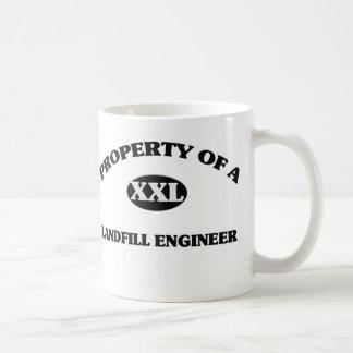 Property of a LANDFILL ENGINEER Classic White Coffee Mug