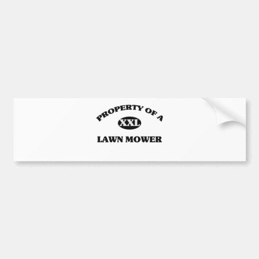 Property of a LAWN MOWER Car Bumper Sticker
