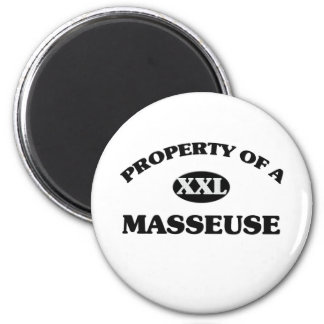 Property of a MASSEUSE Refrigerator Magnets