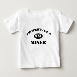 Property of a MINER Baby T-Shirt