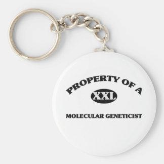 Property of a MOLECULAR GENETICIST Keychain