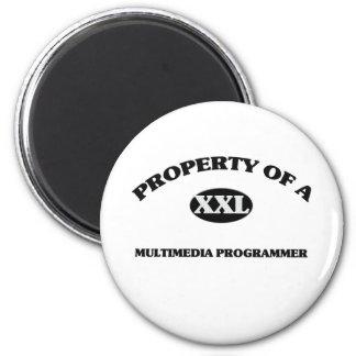 Property of a MULTIMEDIA PROGRAMMER Refrigerator Magnet