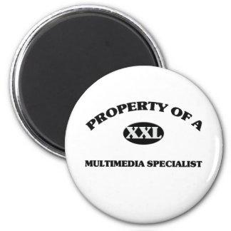 Property of a MULTIMEDIA SPECIALIST Fridge Magnet