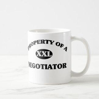 Property of a NEGOTIATOR Classic White Coffee Mug
