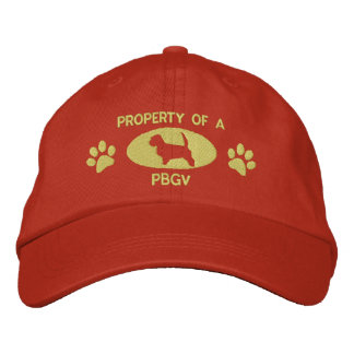 Property of a PBGV Embroidered Hat (Orange)