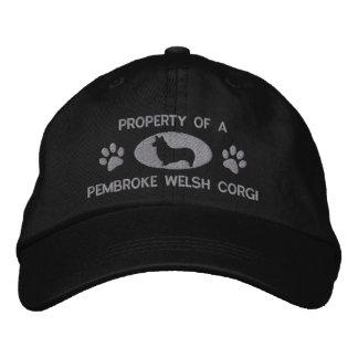Property of a Pembroke Welsh Corgi Embroidered Hat