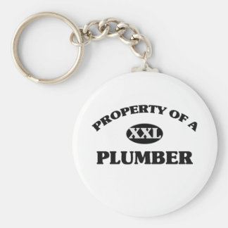 Property of a PLUMBER Basic Round Button Keychain