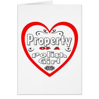 Property Of A Polish Girl Card