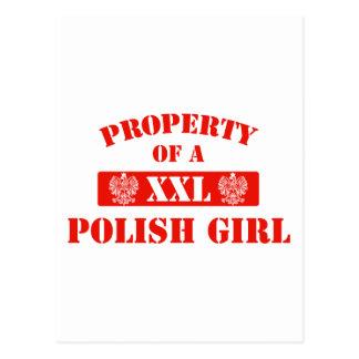 Property Of A Polish Girl Postcard
