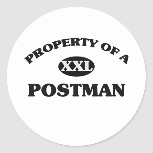 Property of a POSTMAN Classic Round Sticker