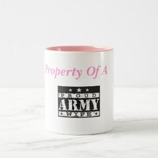 Property of a Proud Army Wife coffee mug