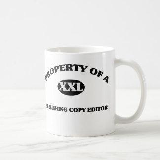Property of a PUBLISHING COPY EDITOR Coffee Mugs