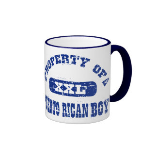 Property of a Puerto Rican boy Ringer Coffee Mug