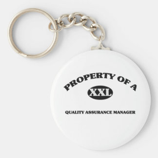 Property of a QUALITY ASSURANCE MANAGER Keychain