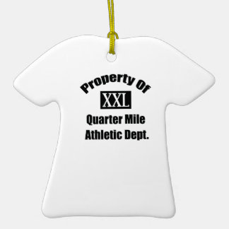 Property Of A Quarter Mile By Gear4gearheads Double-Sided T-Shirt Ceramic Christmas Ornament