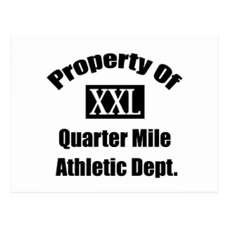 Property Of A Quarter Mile By Gear4gearheads Postcard