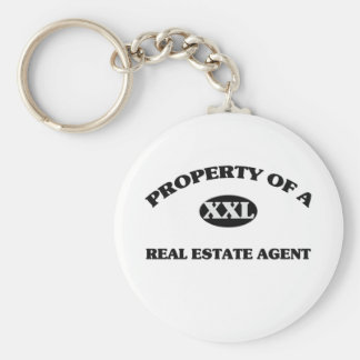 Property of a REAL ESTATE AGENT Basic Round Button Keychain