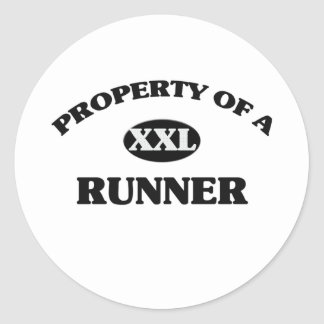 Property of a RUNNER Round Stickers