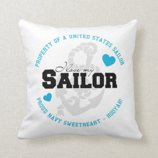 Property of a Sailor Throw Pillow