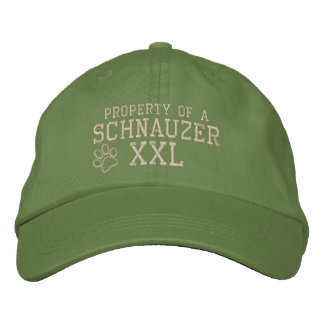 Property of a Schnauzer Embroidered Hat