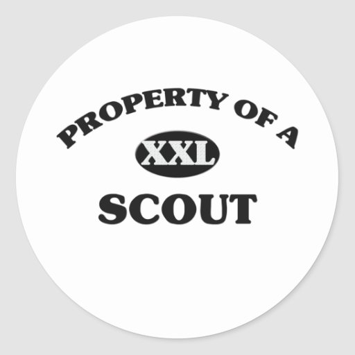 Property of a SCOUT Classic Round Sticker