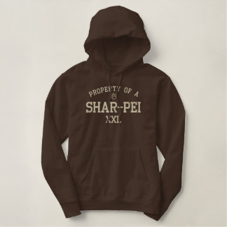 Property of a Shar-Pei Embroidered Hoodie