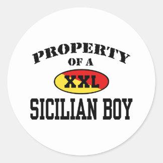 Property of a Sicilian Boy Classic Round Sticker