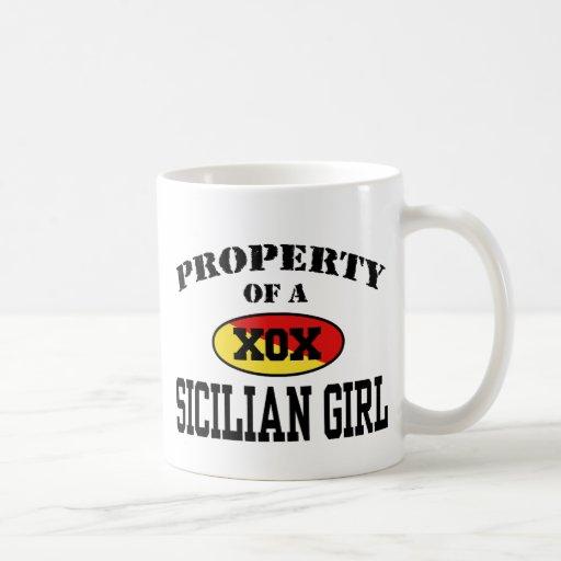 Property of a Sicilian Girl Classic White Coffee Mug