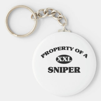 Property of a SNIPER Basic Round Button Keychain