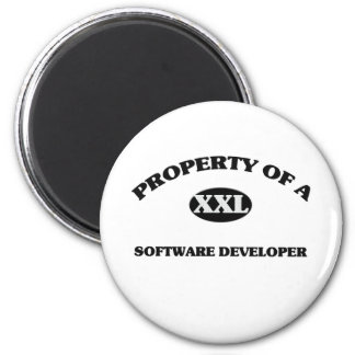 Property of a SOFTWARE DEVELOPER 2 Inch Round Magnet