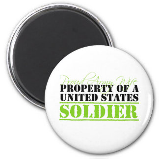 Property Of A Soldier 2 Inch Round Magnet