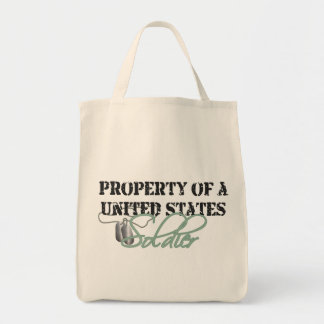 Property of a Soldier Grocery Tote Bag