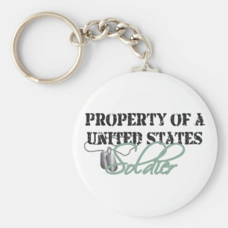 Property of a Soldier Basic Round Button Keychain