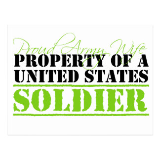 Property Of A Soldier Postcard
