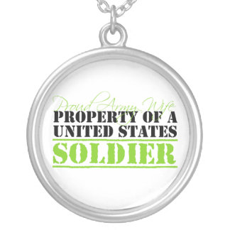 Property Of A Soldier Round Pendant Necklace