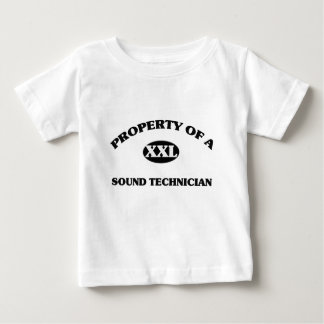 Property of a SOUND TECHNICIAN Baby T-Shirt