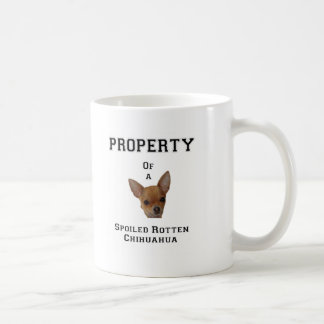 Property of a Spoiled Rotten Chihuahua Classic White Coffee Mug