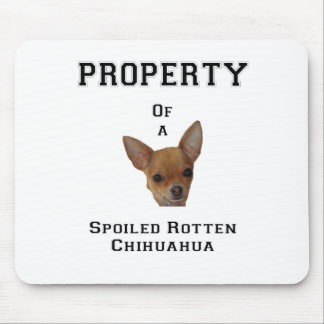 Property of a Spoiled Rotten Chihuahua Mouse Pads