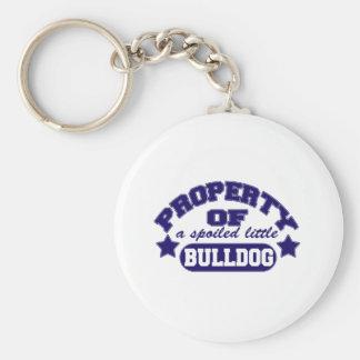 Property of a Spolied Bulldog Basic Round Button Keychain